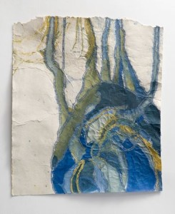 Nancy Cohen, Duct, 2008. Paper pulp and handmade paper. 39 x 31 inches.